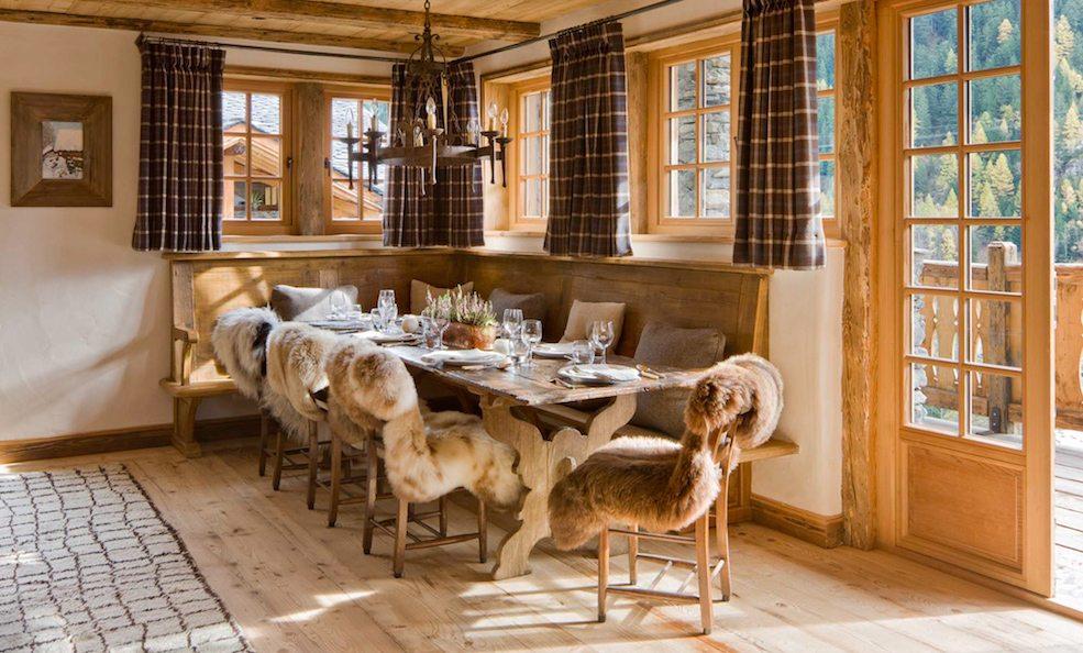 chalet pelerin dining room