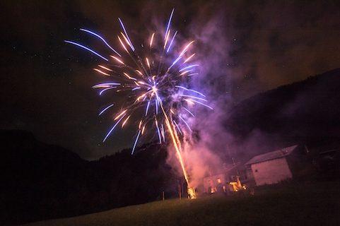 chalet pelerin fireworks
