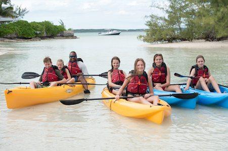 kayaking in the bamahas