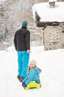 chalet pelerin sledding