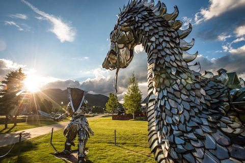metal sculptures in Crested Butte