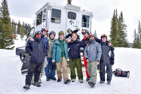 group photo cat skiing