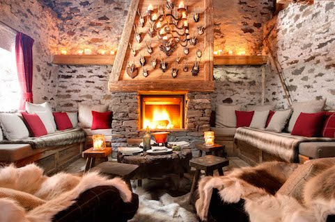 france chalet fireplace