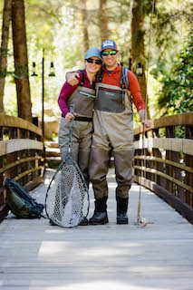 colorado fly fishing couple