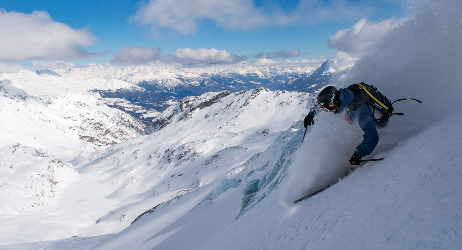 france heli skiing powder