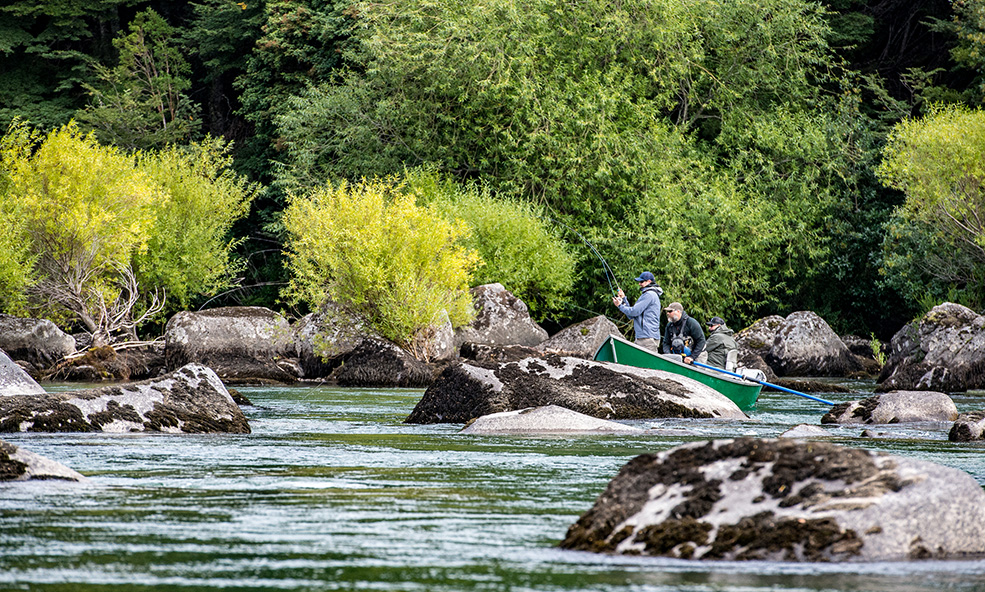 Chile Chilean heli fishing lodge