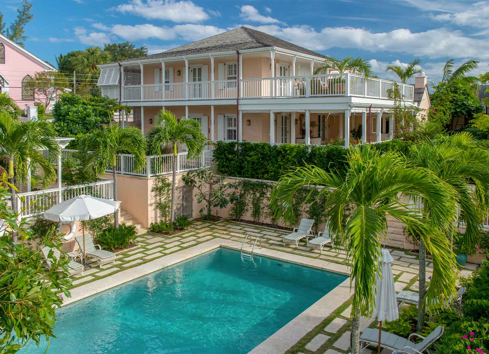 Bahama House Exterior with Pool Views - Dunmore Town, Bahamas - Eleven Experience