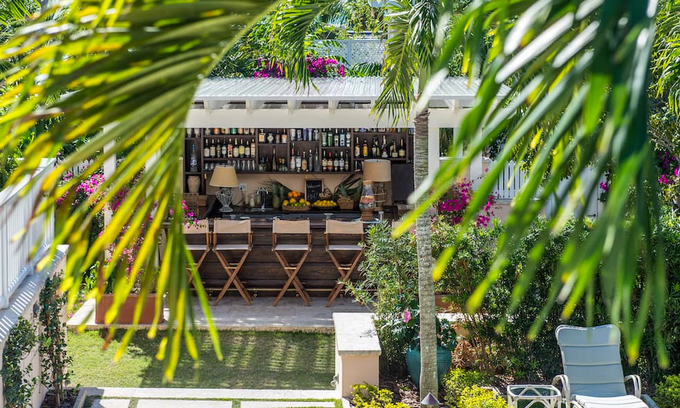 Outside Bar Area at Bahama House in Dunmore Town, Bahamas - Eleven Experience