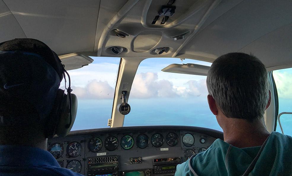 Single Engine Seaplane Cockpit - Private Transportation to Bahama House - Dunmore Town, Bahamas