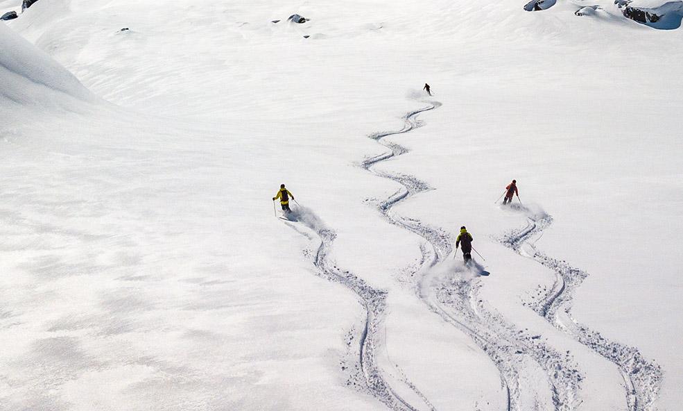 Group Heli Skiing at Chalet Pelerin