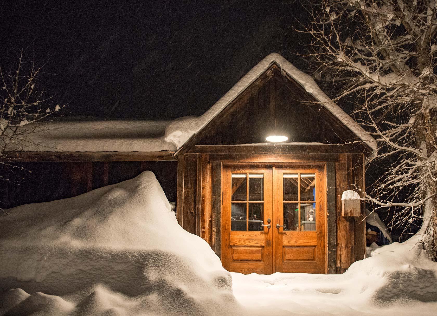 Sopris House winter exterior