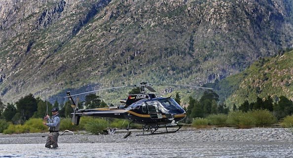 heli-fishing rio palena chile