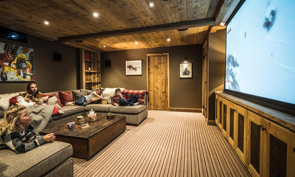 Family Movie Theater Hang Out Space at Chalet Hibou in France
