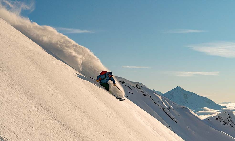 Heli Skiing in the French Alps During Chalet Hibou Reservation