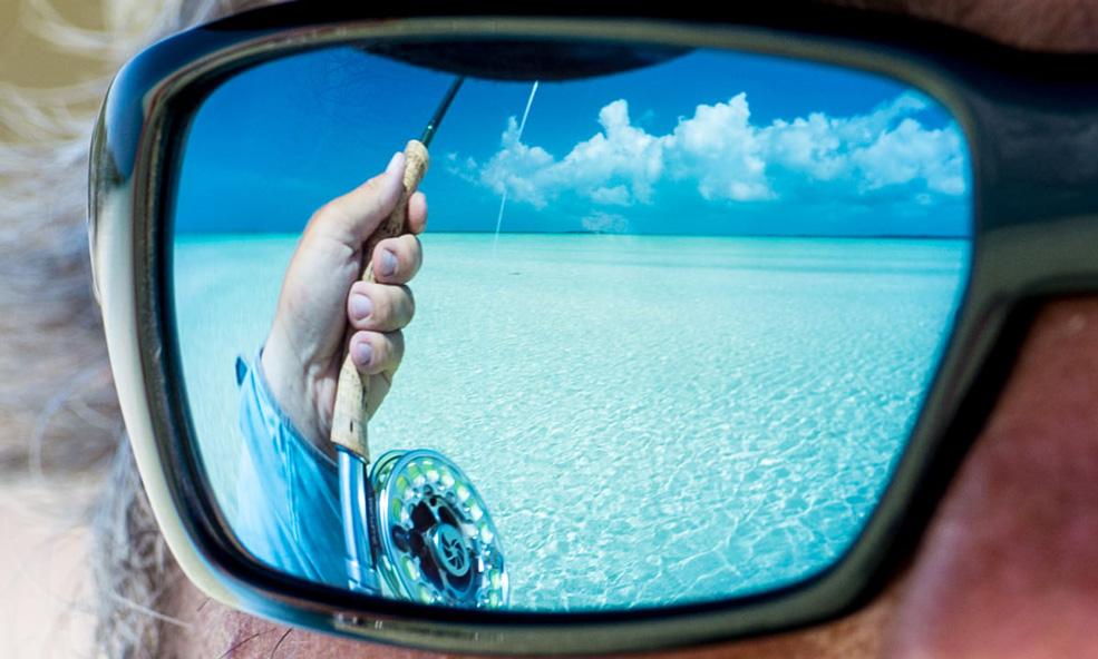 Bahamas bonefishing reflection