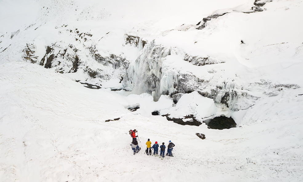 eleven iceland hiking winter