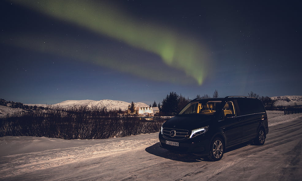 northern lights van