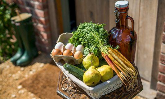 farm fresh produce hillside cottage