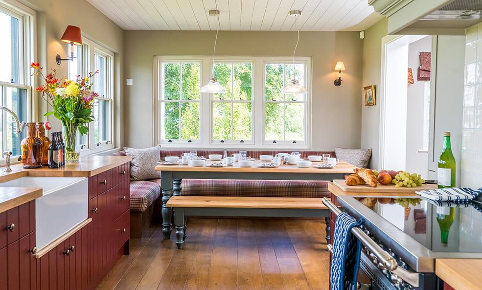 hillside kitchen dining