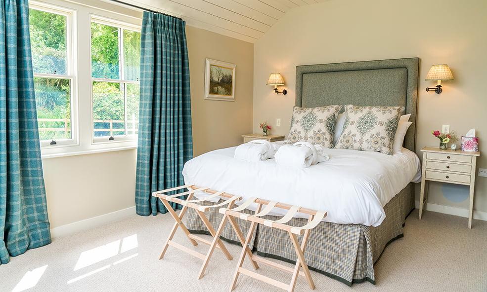 sunny bedroom hillside