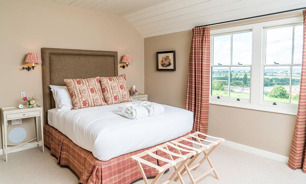 hillside bedroom with edington view