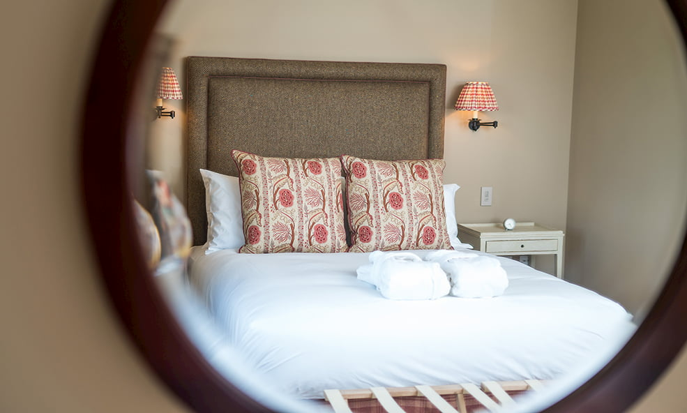 hillside bed from mirror