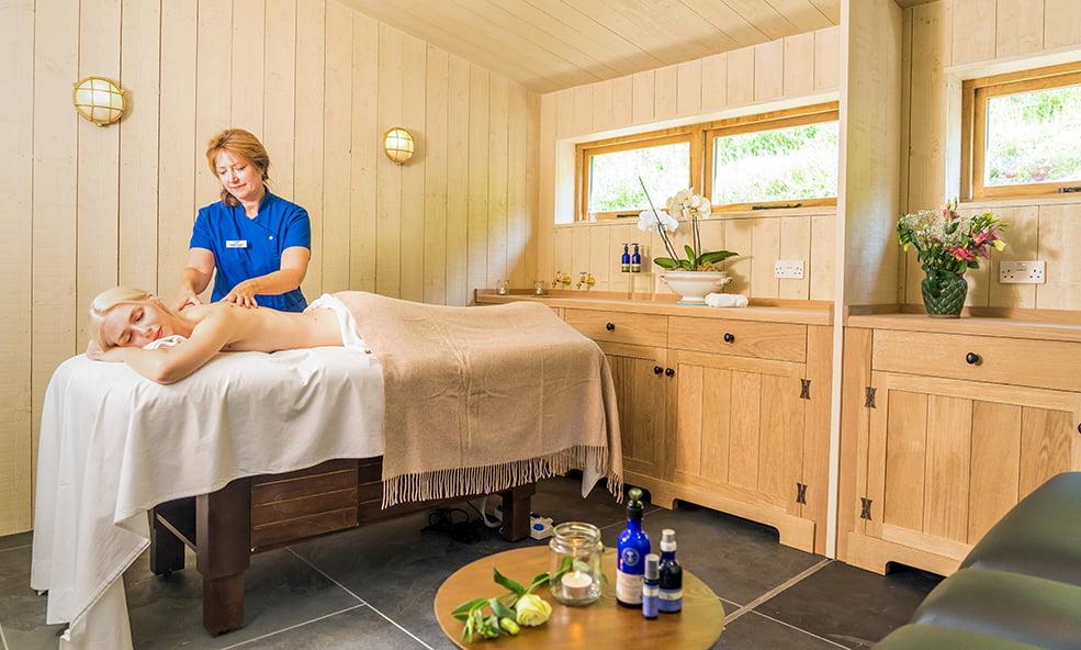 massage therapy room hillside