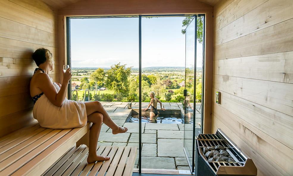 hillside cottage & spa sauna overlooking spa