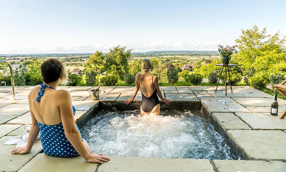 outdoor spa hillside