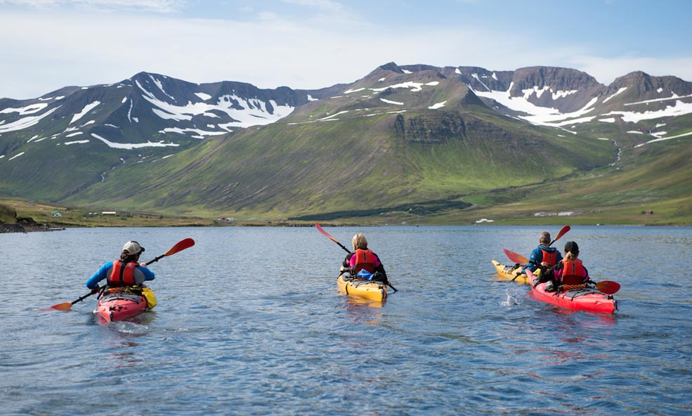 eleven iceland canoes