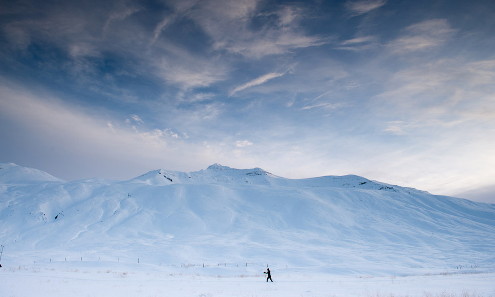 eleven iceland cross country skiing