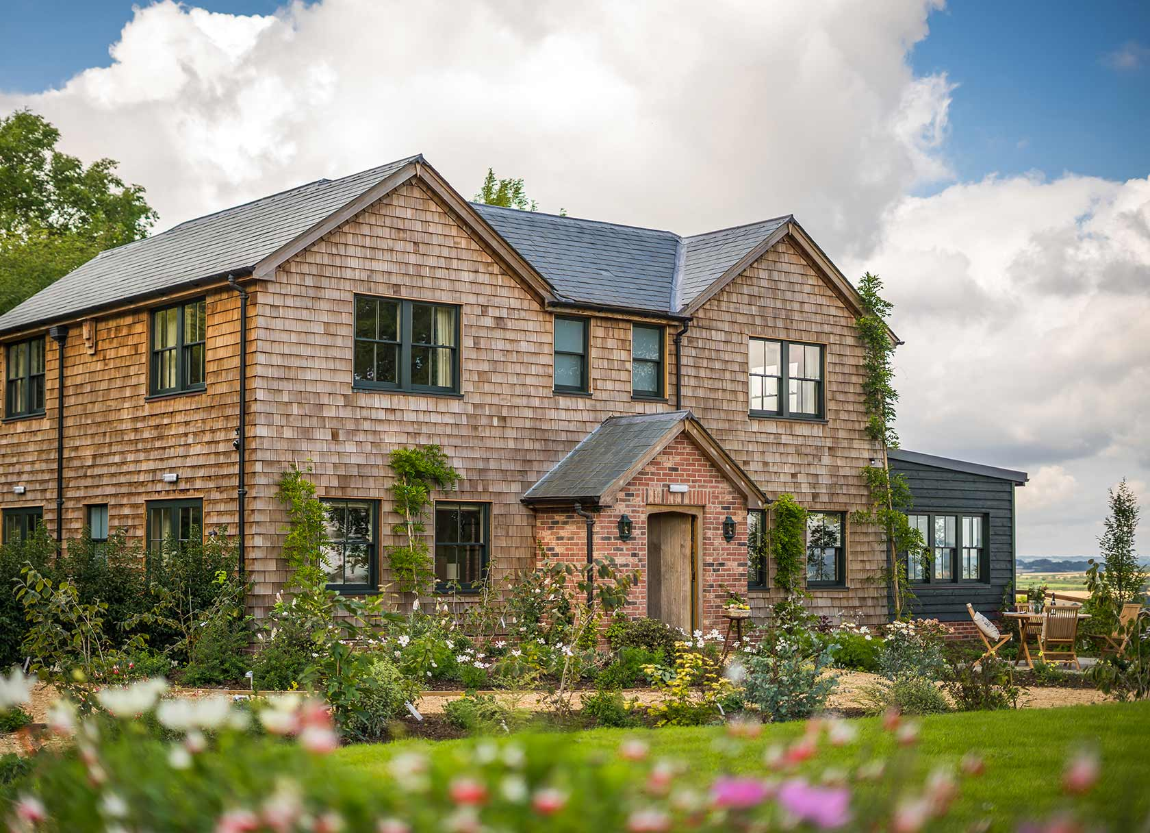 Outside of Hillside Cottage - A Luxury Guest House Rental in England