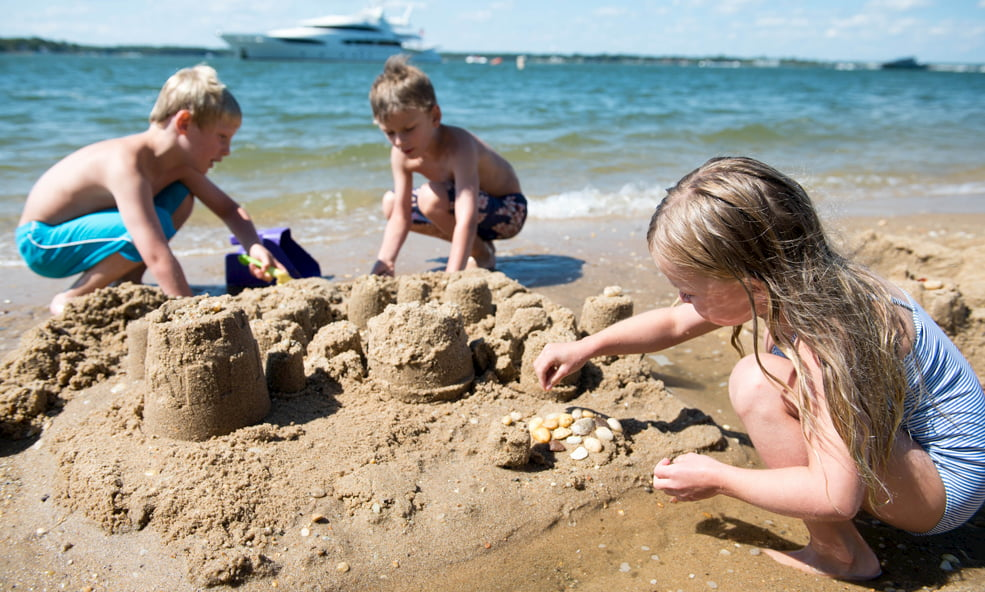 kids at shelter beach