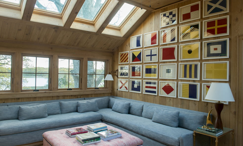 living room nautical flags