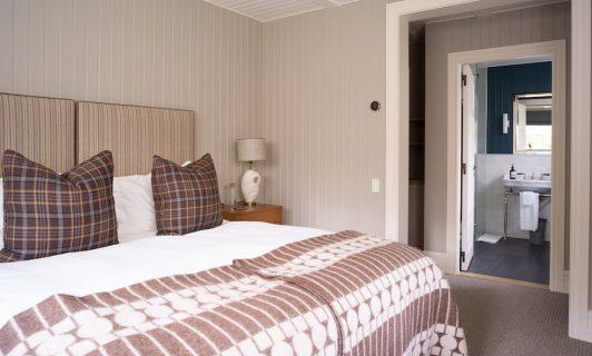 Purple house bedroom and bathroom