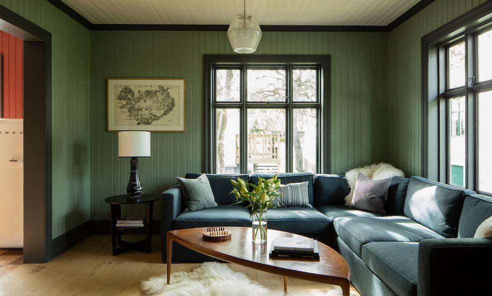 purple house living room