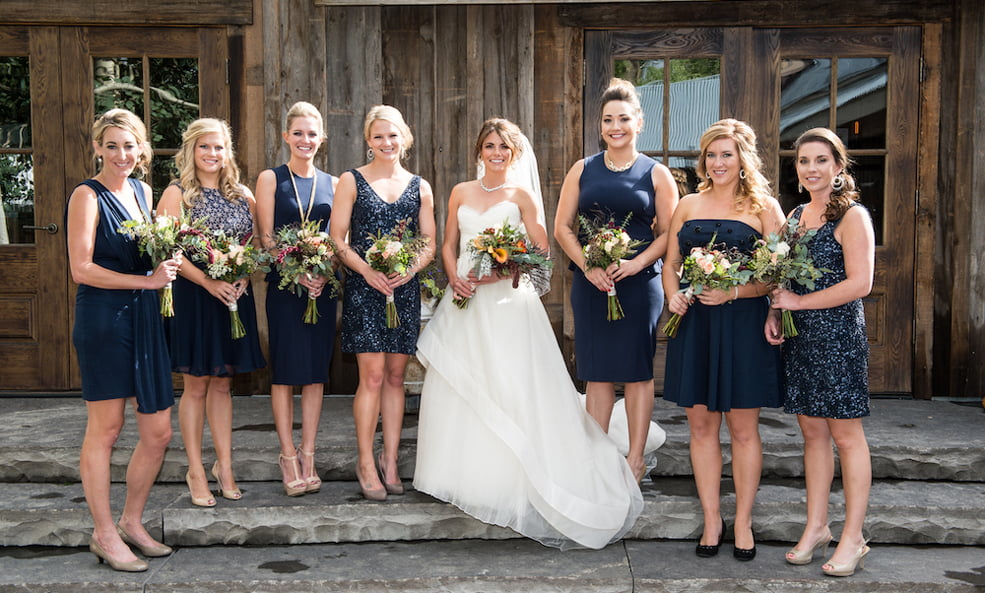 Colorado Wedding bride and maids