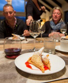 Eleven Cedar Lodge cuisine