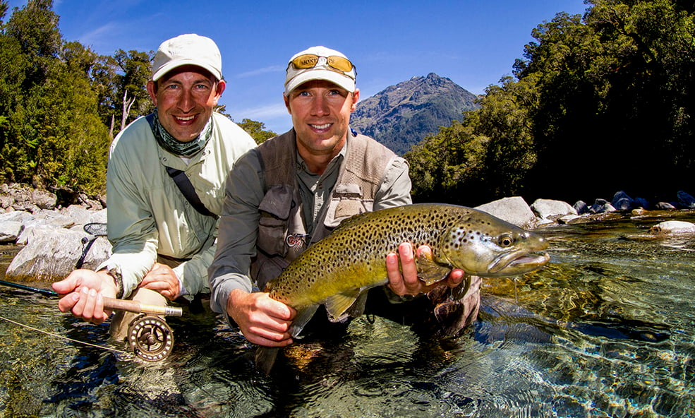 eleven angling brown trout