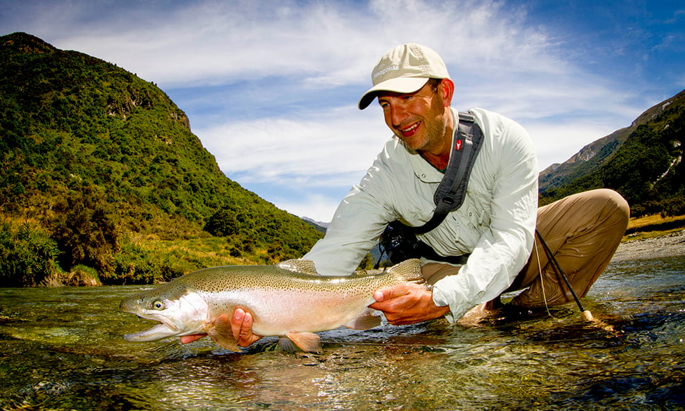 NZ angling Rainbow Trout