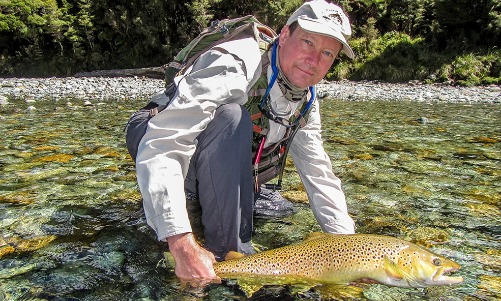 angling for brown trout NZ
