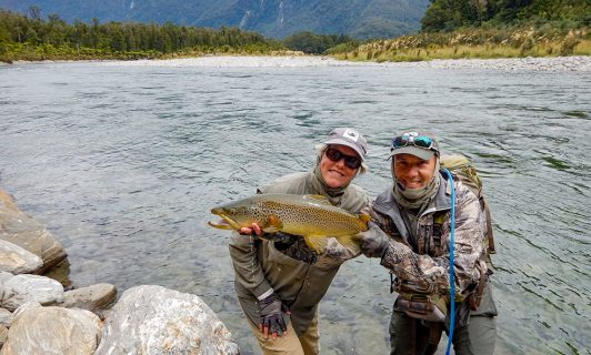 fishing for brown trout