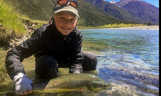Angling for brown trout