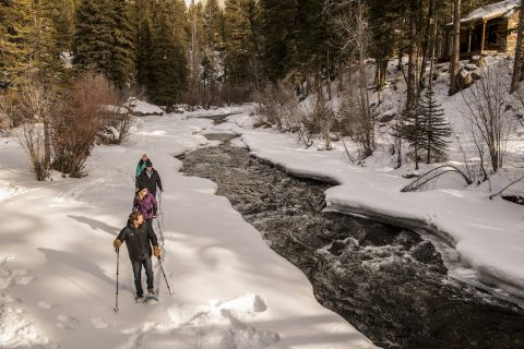 Snowshoeing at Taylor River Lodge in Colorado