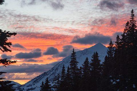 Colorado Winter Sunsets Near Crested Butte Colorado