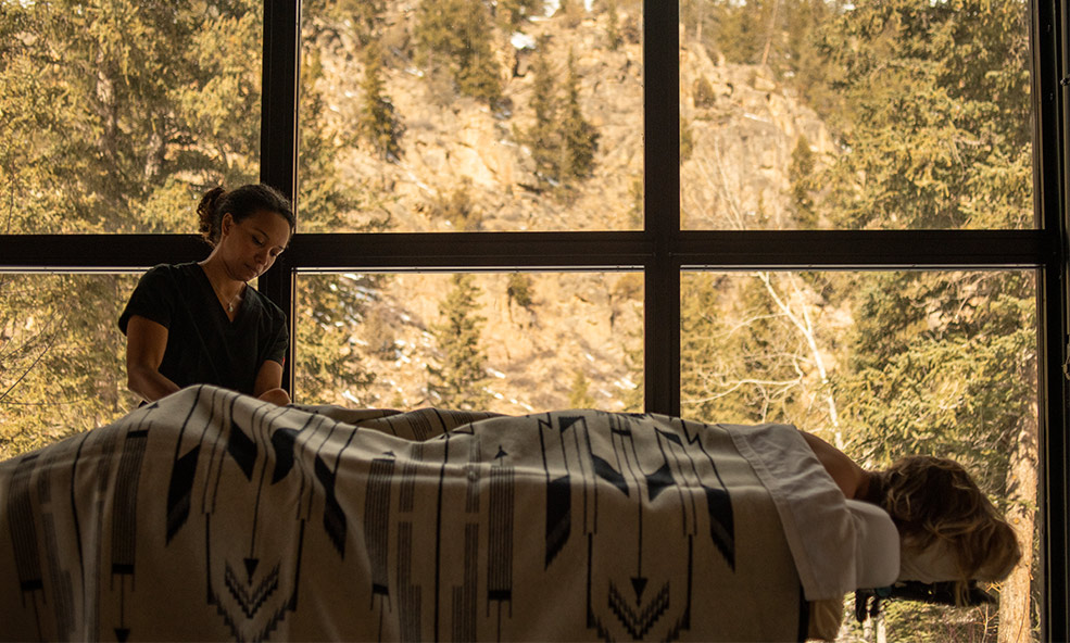 Massage at Taylor River Lodge in Colorado