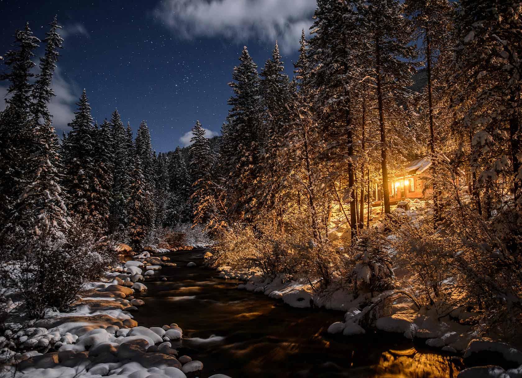 Taylor River Lodge Winter in Colorado