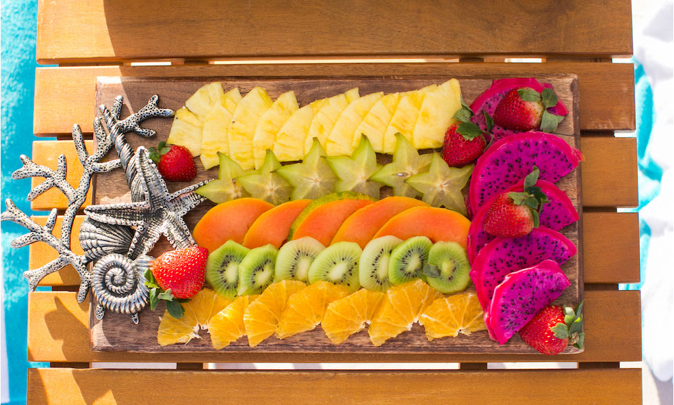 Fresh Fruit at Eleven Experience's Bahama House in Dunmore Town